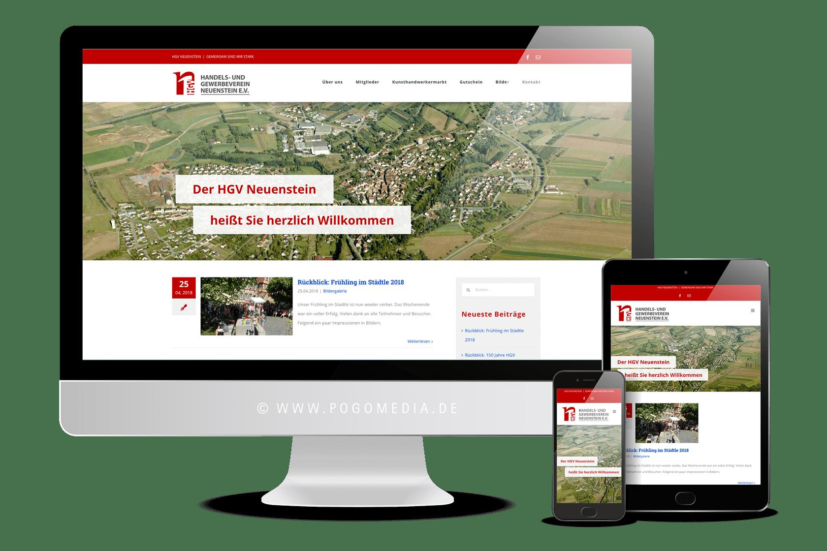 Webdesign: hgv-neuenstein.de